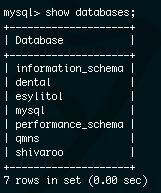 databaseを表示