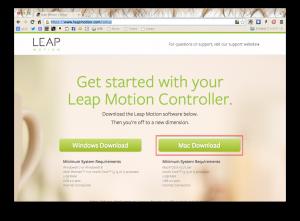 LeapMotionのアクティベート