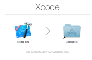 Xcode 6 betaをアプリケーションフォルダに